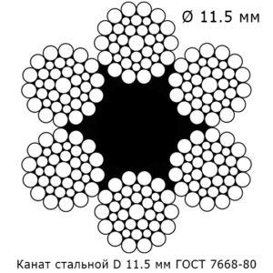 Канат стальной 11.5 мм ГОСТ 7668-80