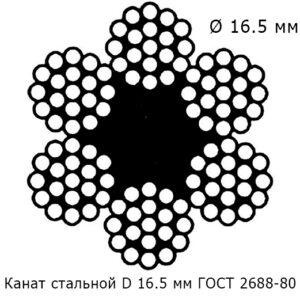 Канат стальной 16.5 мм ГОСТ 2688-80
