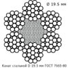 Канат стальной 19.5 мм ГОСТ 7665-80