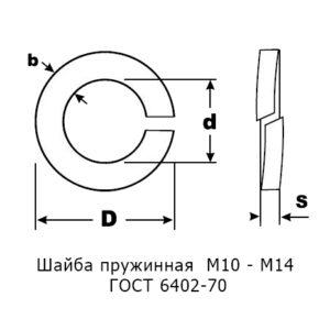 Шайба гровер М10 – М14