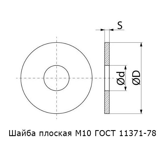Шайба М10