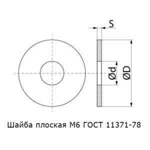 Шайба М6
