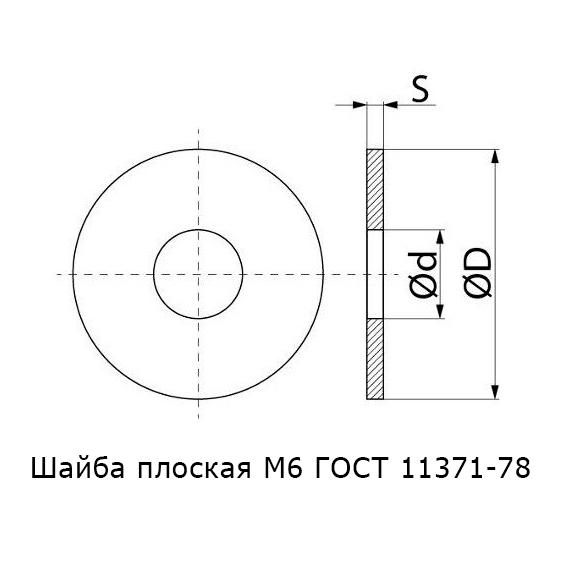 Шайба плоская М6 ГОСТ 11371-78